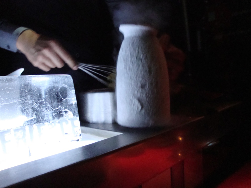 Liquid Nitrogen Cocktail Prepared Tableside