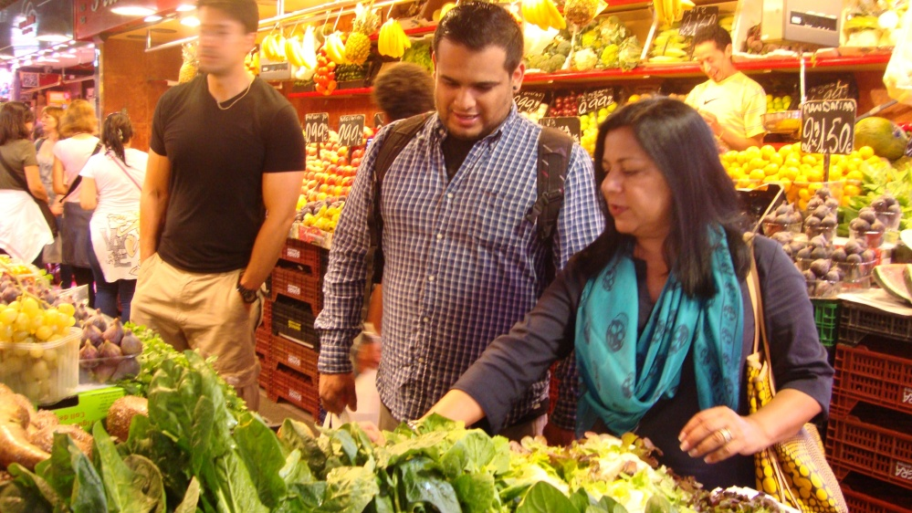 Shopping for dinner with Chef Jorge Munoz