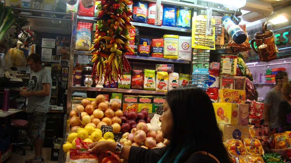 Peruvian products at Boqueria Market