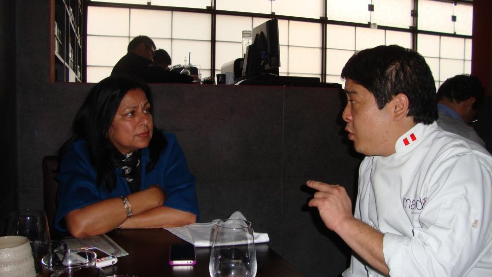 With Chef Mitsuharu Tsumuru