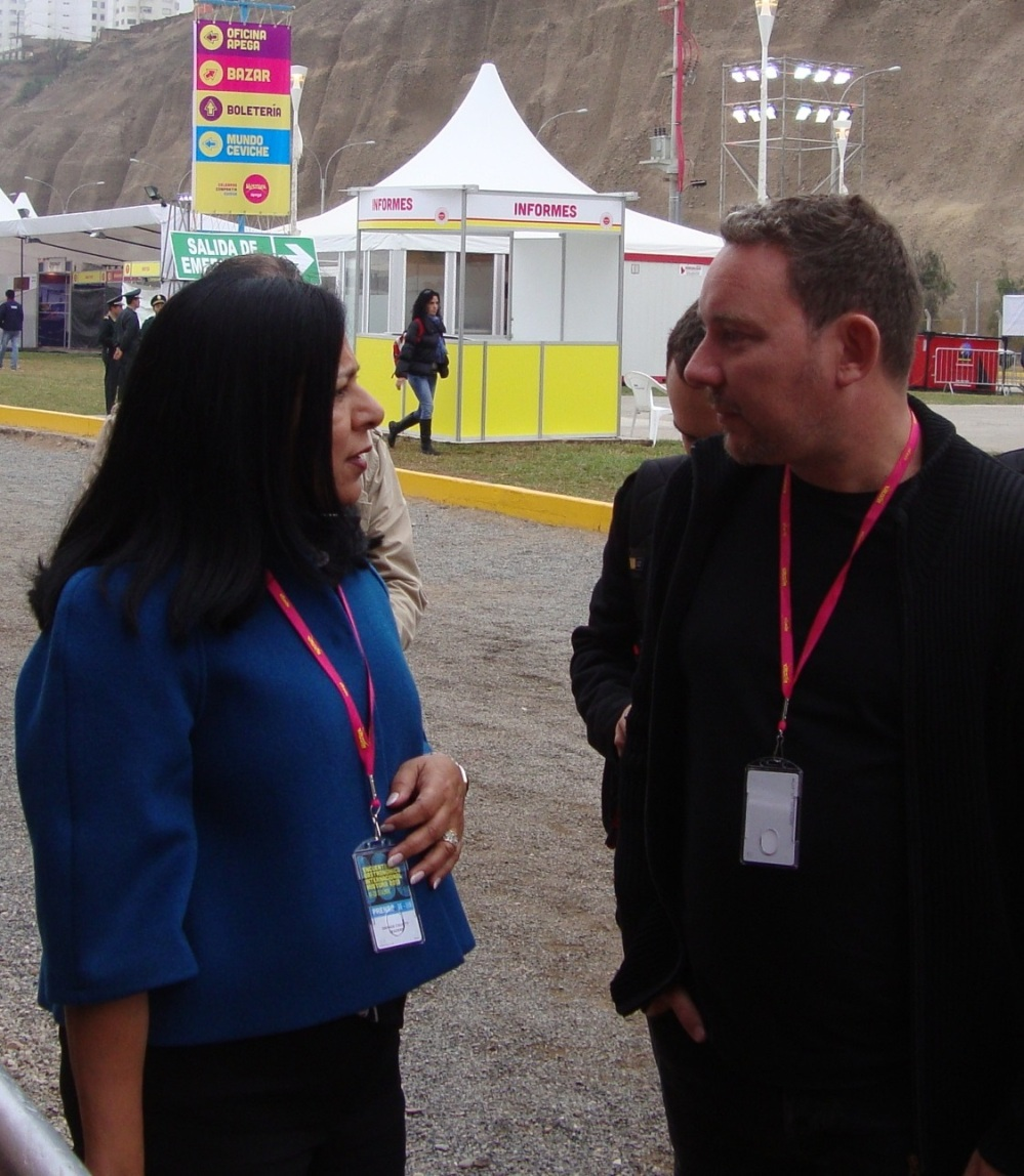 With Albert Adria at Mistura