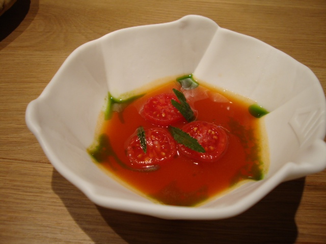 Tomato ponzu with soba