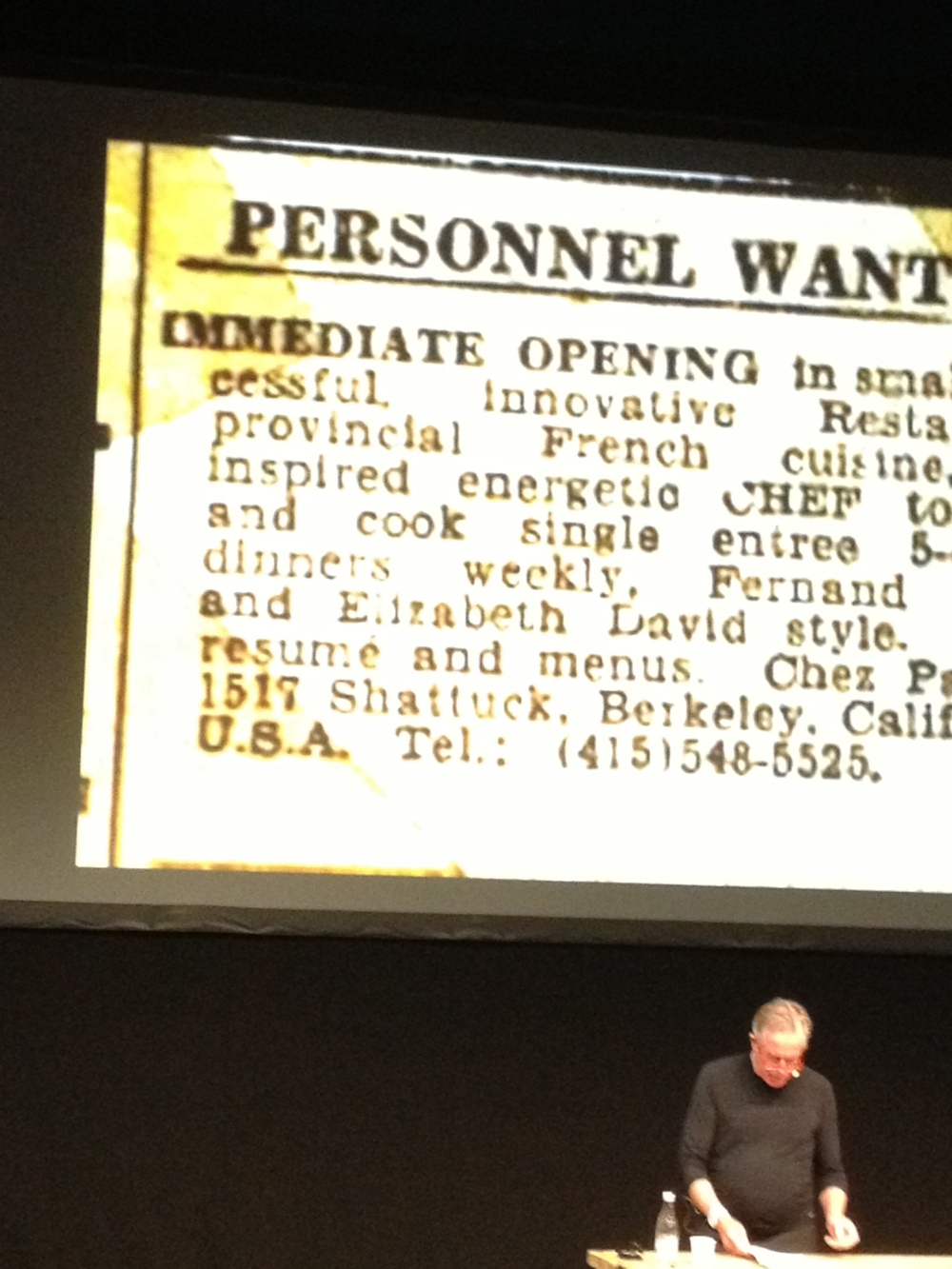 The ad that brought Jeremiah Towers to Chez Panisse