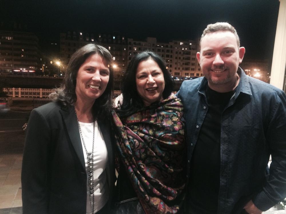 With Albert and Sylvia Adria in San Sebastián