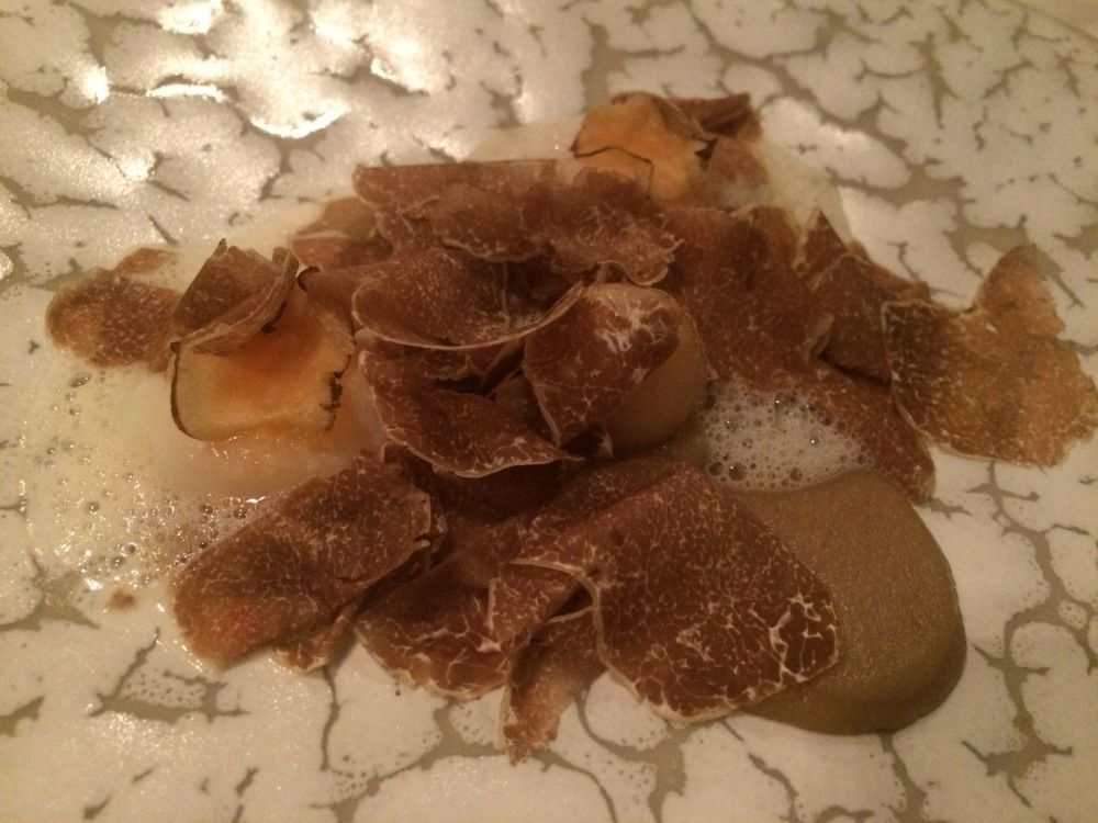 Lamb tongue and tons of white truffle