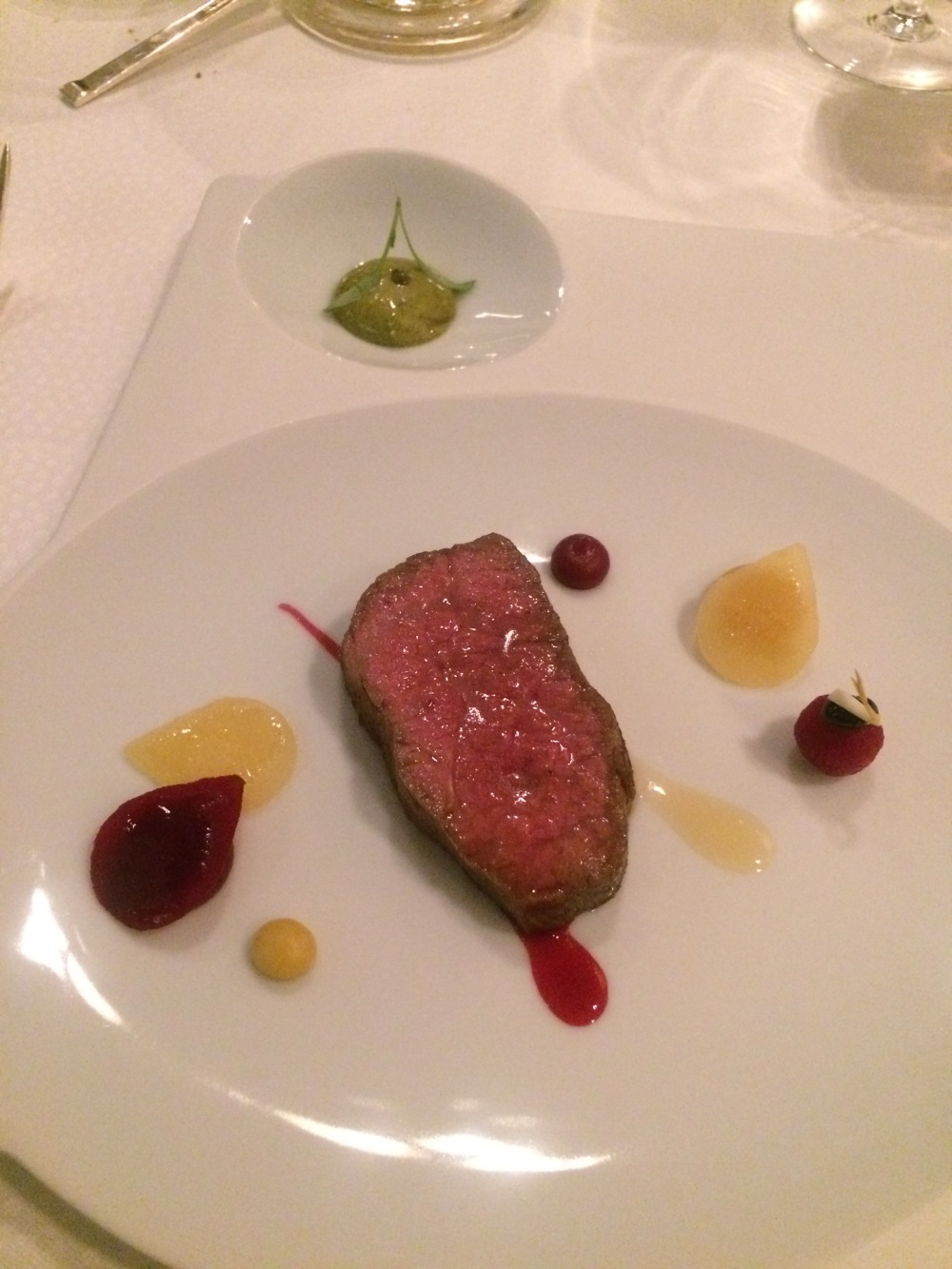Wagyu with beets and corriander