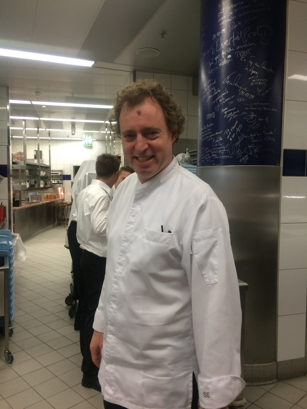 Chef Elverfeld in the kitchen at Aqua