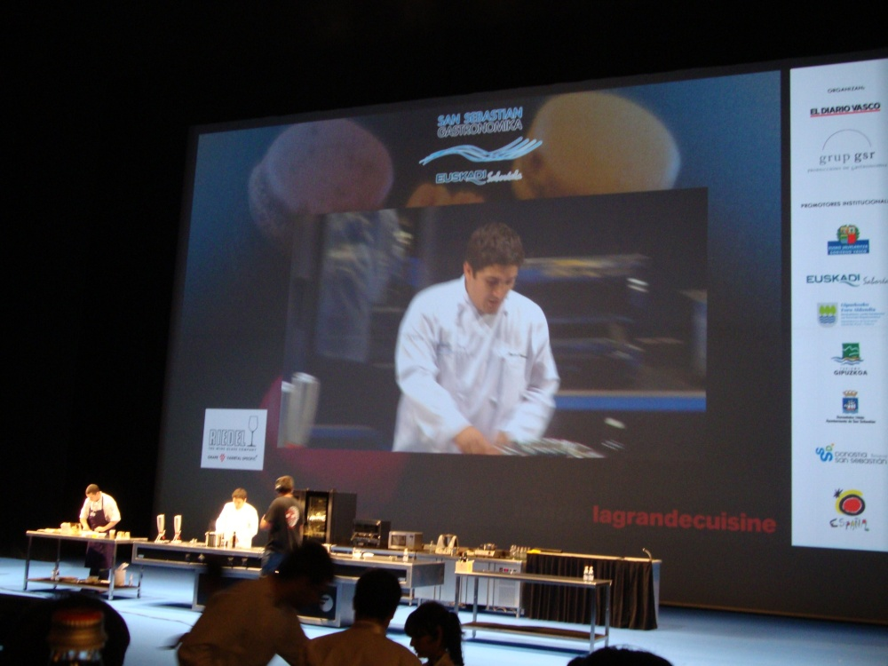 Colagreco onstage at Gastronomika 2012 in San Sebastian