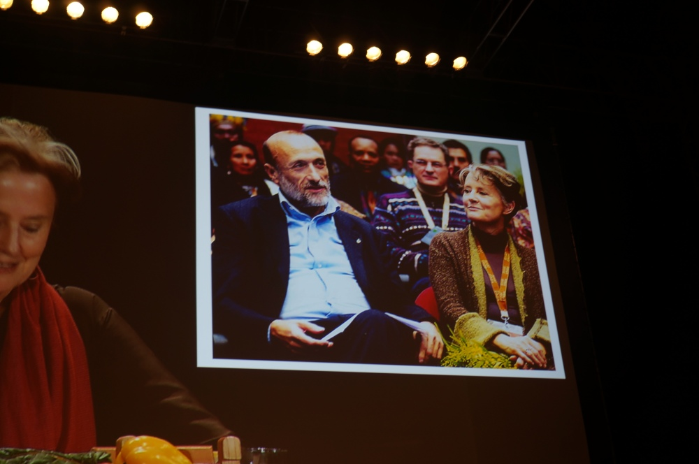 Alice Waters and Carlo Petrini, Found of the Slow Food Movement