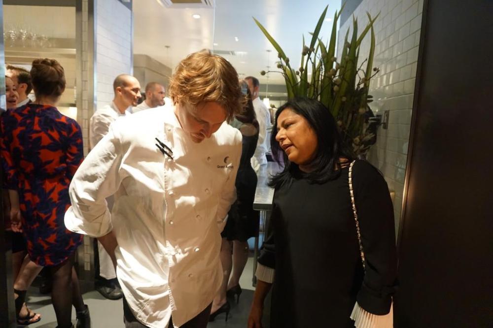 Chef Grant Achatz at Alinea