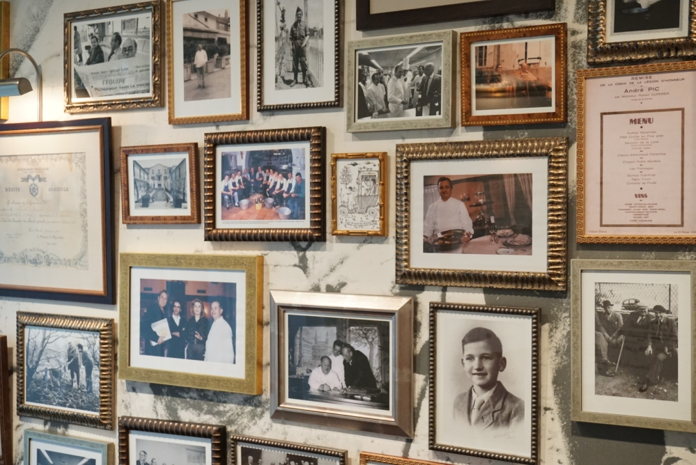 Memories on the walls of Maison Pic