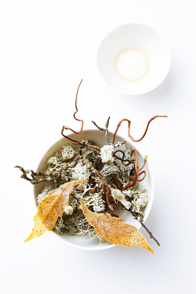 Jerusalem Artichoke Leaves, Rye Vinegar, & Walnut Oil