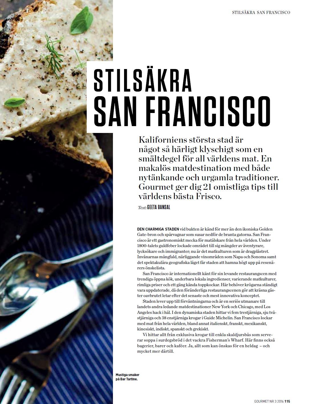 san francisco magazine restaurant guide